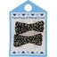 Small ribbons hair clips noir pailleté - PPMC