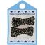 Barrette clic-clac mini ruban noir pailleté - PPMC