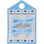 Small ribbons hair clips oxford blue - PPMC