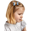 Barrette clic-clac mini ruban oxford ciel