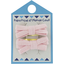 Barrette clic-clac mini ruban oxford rose - PPMC