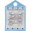 Small ribbons hair clips silver grey spots - PPMC