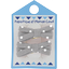 Small ribbons hair clips light grey spots - PPMC