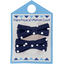 Small ribbons hair clips navy blue spots