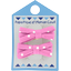 Barrette clic-clac mini ruban pois rose - PPMC