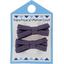 Barrette clic-clac mini ruban prune