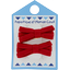 Small ribbons hair clips red - PPMC