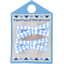 Small ribbons hair clips sky blue gingham - PPMC