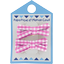 Small ribbons hair clips fuschia gingham - PPMC