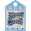 Barrette clic-clac mini ruban vichy marine