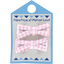 Small ribbons hair clips pink gingham - PPMC