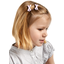 Barrette clic-clac mini ruban vichy rose