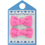 Small bows hair clips pink - light cotton canvas - PPMC
