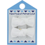 Small bows hair clips white - PPMC