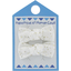 Small bows hair clips white sequined - PPMC