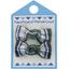 Barrettes clic-clac petits noeuds ecossais vert et blanc