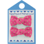 Small bows hair clips etoile or fuchsia - PPMC