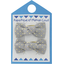 Barrettes clic-clac petits noeuds etoile or gris - PPMC