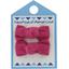 Barrettes clic-clac petits noeuds fuchsia - PPMC