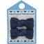 Small bows hair clips light denim