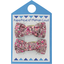 Small bows hair clips plum lichen - PPMC