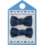 Small bows hair clips navy blue - PPMC