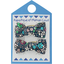 Small bows hair clips green azure flower - PPMC