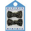 Small bows hair clips noir pailleté