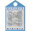 Small bows hair clips silver grey spots - PPMC