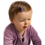 Small bows hair clips plum spots