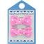 Barrettes clic-clac petits noeuds pois rose