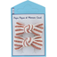 Pasador clic-clac lazos rayado cobre - PPMC