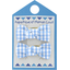 Small bows hair clips sky blue gingham - PPMC
