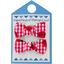 Small bows hair clips ladybird gingham