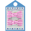 Small bows hair clips fuschia gingham - PPMC