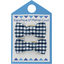 Small bows hair clips navy blue gingham - PPMC