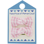 Barrettes clic-clac petits noeuds vichy rose - PPMC
