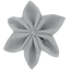 Star flower 4 hairslide grey
