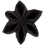 Star flower 4 hairslide black - PPMC
