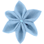 Star flower 4 hairslide oxford blue - PPMC