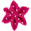 Star flower 4 hairslide fuschia spots - PPMC