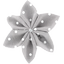 Star flower 4 hairslide light grey spots - PPMC