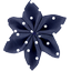 Star flower 4 hairslide navy blue spots - PPMC