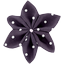 Star flower 4 hairslide plum spots - PPMC