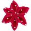 Star flower 4 hairslide red spots - PPMC