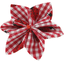 Star flower 4 hairslide ladybird gingham