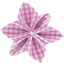 Star flower 4 hairslide fuschia gingham - PPMC