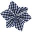 Barrette fleur étoile 4 vichy marine - PPMC