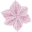 Star flower 4 hairslide pink gingham - PPMC