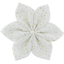 Star flower 4 hairslide white sequined - PPMC